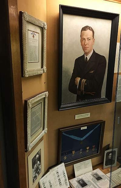 The Churchill County Museum features a display on  Lt. Cmdr. Bruce Avery Van Voorhis.