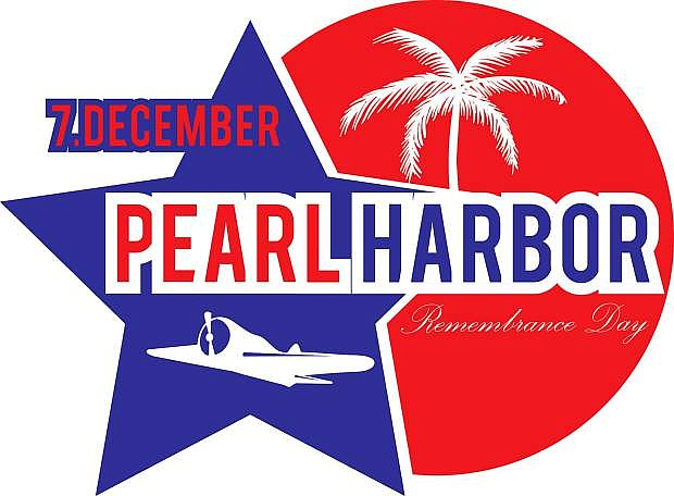 Illustration. Remembrance Day Pearl Harbor