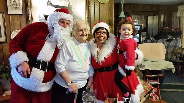 Volunteers dressed as Santa and his helpers make their way to 150-200 homebound seniors each year delivering gifts and holiday cheer.