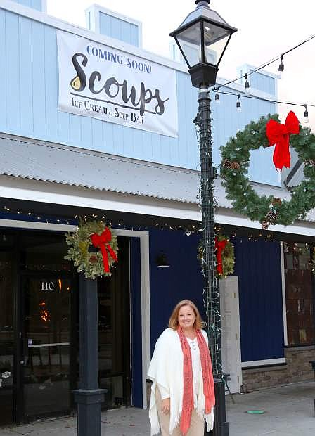 Kimberly Landry will soon be opening Scoups Ice Cream & Soup Bar in McFadden Plaza.