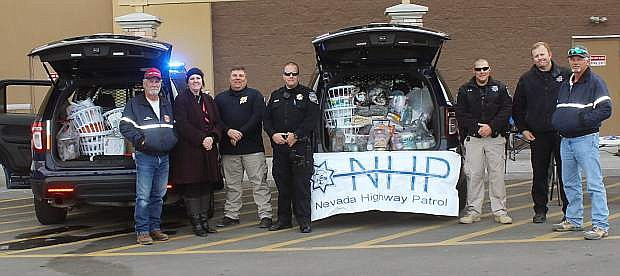 The Nevada Highway Patrol and Fallon / Churchill Volunteer Fire Department set up a  collection point at last year's Cram the Cruiser. This year, the format has changed with first responders meeting at Walmart on Saturday.
