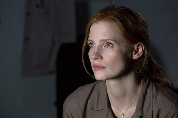 """This photo released by Paramount Pictures shows Jessica Chastain in a scene from the film, '""""Interstellar,"""" from Paramount Pictures and Warner Brothers Pictures, in association with Legendary Pictures. (AP Photo/Paramount Pictures, Melinda Sue Gordon)"""