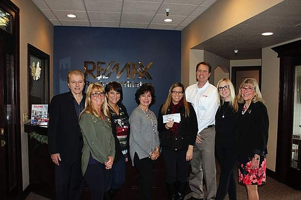 RE/MAX Realty Affiliates-Carson City, the Maggert team at Guild Mortgage in Minden and Steve and Wendy Kaplan, owners of Carson City Square, recently raised over $2,200 for Food for Thought, Inc. The nonprofit organization provides weekend food to local children, most of them homeless, participating in the subsidized meal programs at school. Now in its 11th year in Carson City, Food for Thought also runs a summer program that provides healthy lunches to children at two locations during the summer. To make a donation, call Marlene Maffei, executive director of Food for Thought, at 775-885-7770.