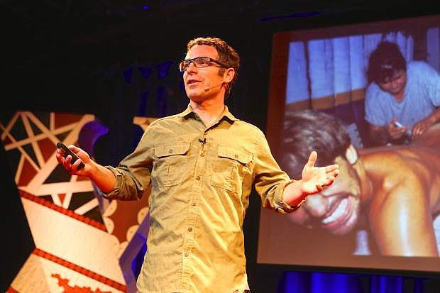 Adventure photographer/videographer Corey Rich speaks on 'Embracing Discomfort' during Carson City's first TedX event in April.