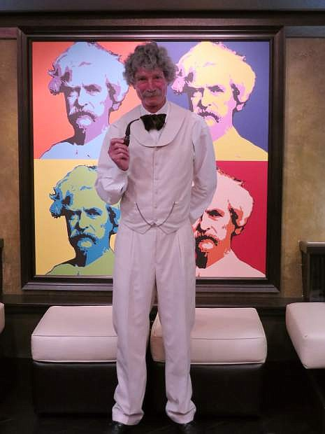 McAvoy Layne as Mark Twain appears in Incline Village in Lake Tahoe Monday evenings through the summer.