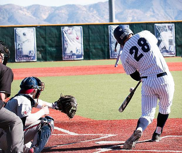 Austin Byler continued to reach base for Nevada.
