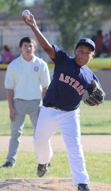Pitcher Richard Ruiz takes the mound for the Astros in a recent game.