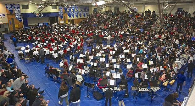 The Morse Burley Gymnasium was packed as it is every year for Band-A-Rama Thursday night.