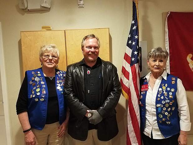 The Tahoe/Douglas Elks Lodge held its annual fundraiser on Feb. 18 to raise money for the emergency shelter, Safe Haven. Pictured are Tahoe/Douglas Exalted Ruler Mary Retterer, guest speaker John Bradtke form Nevada Department of Health and Human Services, and Toni Wendt, event chairman. For information about how to help, call Wendt at 775-265-6136.