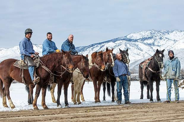 A burro and 14 wild horses trained by inmates in the Nevada Department of Corrections program will be offered in an adoption event on Feb. 25.
