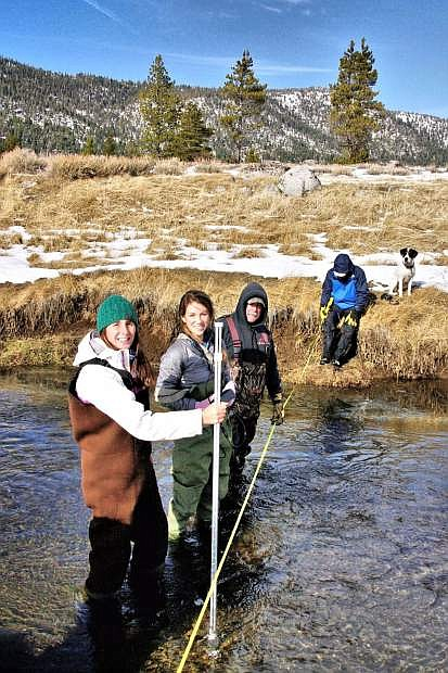 More than two dozen AmeriCorps members are tasked with monitoring the Sierra watersheds through the Sierra Nevada AmeriCorps Partnership program.