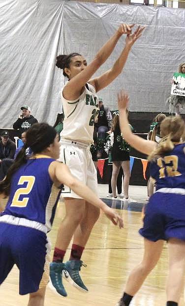 Lailani Otuafi, 20, was named MVP of the Northern 3A girls' basketball teams; she was joined on the first team by teammates Caitlyn Welch and Faith Cornmesser.