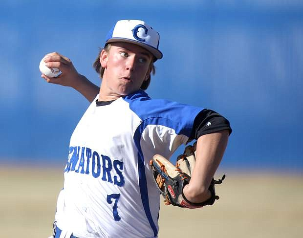 Jared Barnard delivers a pitch in a game against Reno on Tuesday afternoon.