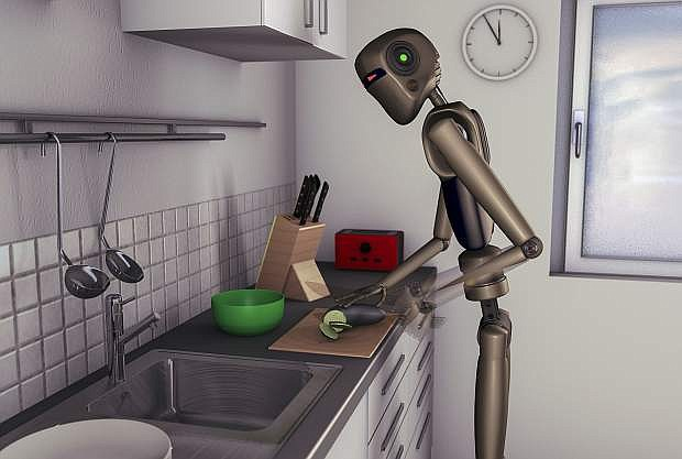 Kitchen help, a robot makes the food in the near future