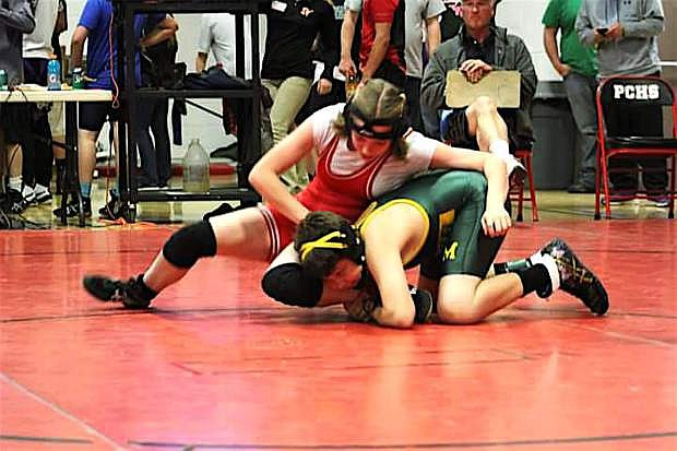 Mackenzie Tackett from Eagle Valley was fourth at 120 in the seventh-grade tourney