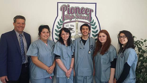 Pioneer High School students are offered classes to prepare for health related careers.