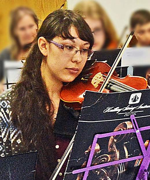 Faith Adams, Carson Valley Sinfonia concertmaster and Western Nevada College freshman.