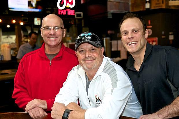 From left to right, Westside Pour House co-woner Rowan Colgan, Chris Petersen and Westside Pour House co-owner Lucas Vine.