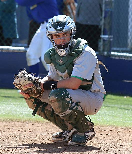 Fallon catcher Brock Uptain is one of three seniors who has been on varsity since his freshman year.