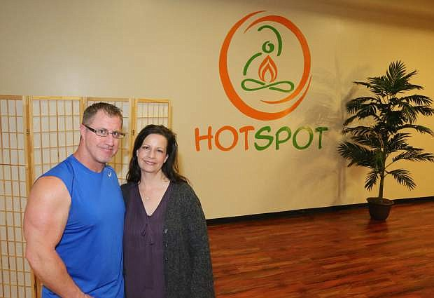 Rich and Kathy King, owners of Fitness for Life have expanded and remodeled the yoga studio inside their business.
