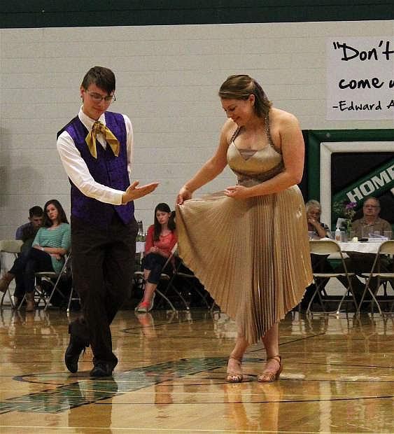 Student Jason Brown and star Kristina Loesel