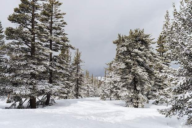 The snowpack is deep at Heavenly Valley Ski Resort at South Lake Tahoe. More snow is expected this weekend.