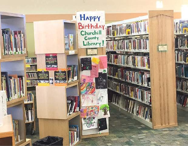 The Churchill County L:ibrary celebrates on Saturday its 50th anniversary at its present location on 553 S. Maine St.