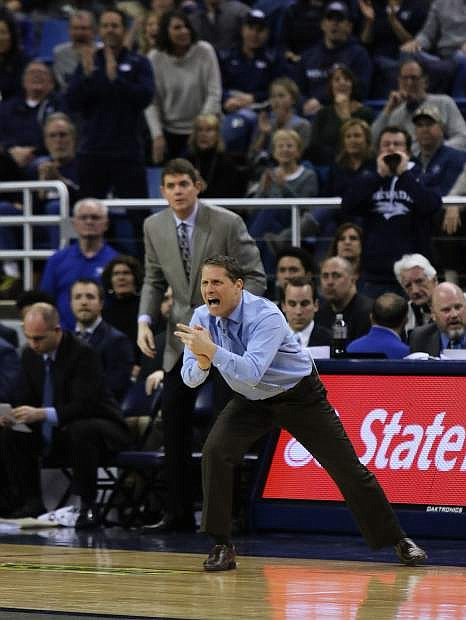 Eric Musselman encourages his team during a recent game against Boise State at Lawlor Events Center.