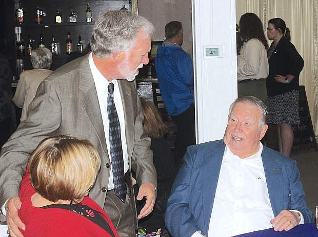 Chip Evans, center, who ran for the U.S. Congress, district 2, attended the dinner.