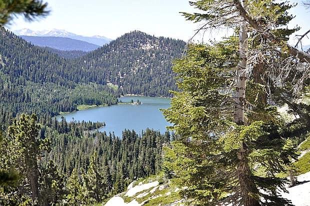 Spooner Lake and surrounding backcountry.
