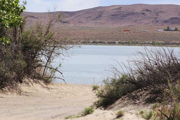 Lahontan Reservoir is receiving more water from the Carson River.