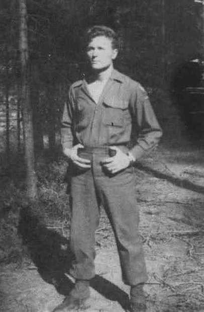 Sgt. Robert McHaney saw plenty of action during World War II and had been involved with the D-Day invasion, Battle of the Bulge and the liberation of Dachau. This photo shows McHaney while serving with the First French Army in the Colman Pocket.