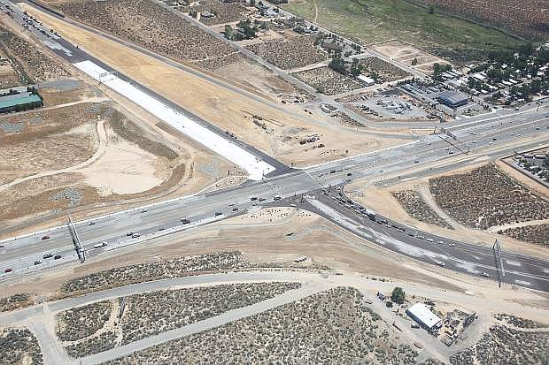 An aerial photo of the Carson City Bypass, looking southeast, taken June 10 during the Carson City Airport's open house.