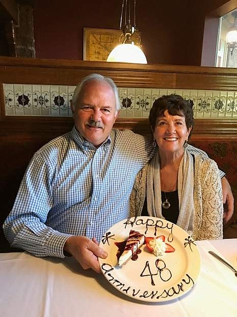 Pastors Louis and Peggy Locke of Fountainhead Foursquare Church in Carson City celebrated their 48th wedding anniversary on May 25 at Glen Eagles Restaurant & Lounge. They were married in Carson City by Rev. Gordon Millard in 1969.