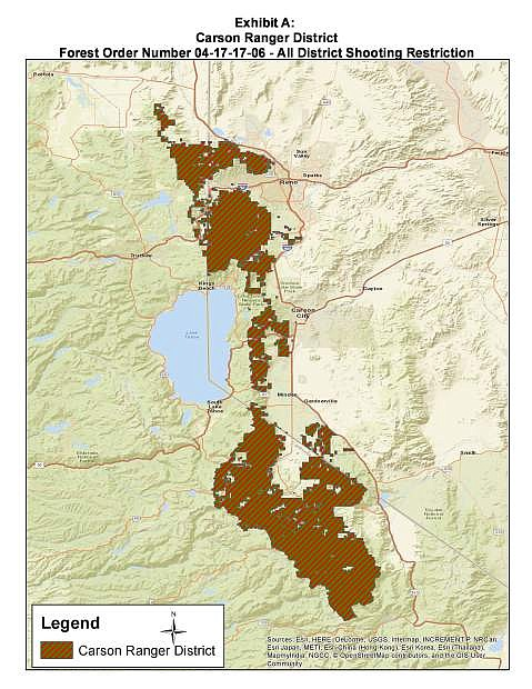 The Carson Ranger District encompasses over 400,000 acres on the Humboldt-Toiyabe National Forest in the states of Nevada and California. It includes 330,000 acres of urban interface area west of Reno-Sparks Metropolitan Area (pop. 425,417), Carson City (pop. 54,080), Minden (pop. 3,001), and Gardnerville (pop. 5,656) in Nevada and more remote rural areas in eastern California.