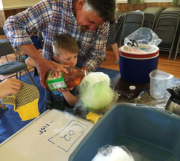 Jim Barcellos of University of Nevada Reno Cooperative Extension leads free STEM activities in Silver City.