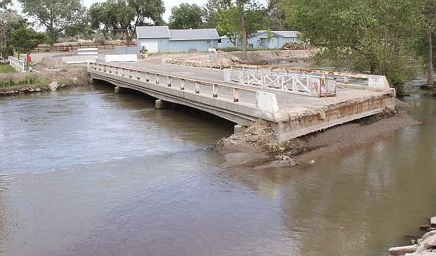 The flow of the Carson River at the Bafford Lane bridge is running at 2,150 cubic feet per second as of Thursday.