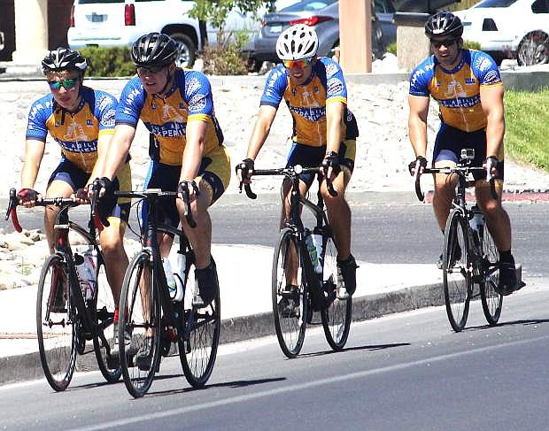 Riders from Journey of Hope arrive in Fallon on Saturday morning.