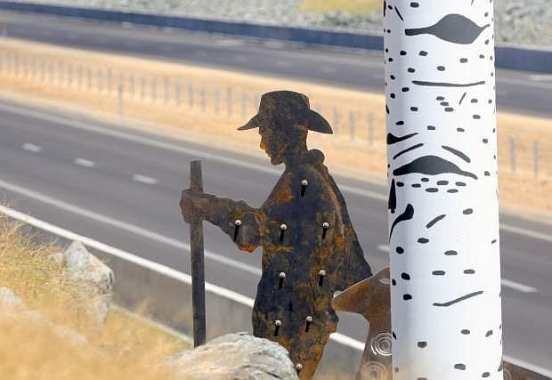 Art work has been installed along the new 580 bypass.