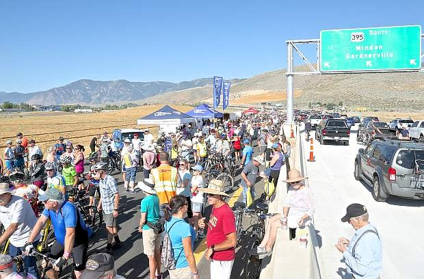 Hundreds of people attended the preliminary grand opening and fun run/bike/walk on the new section of I-580 in Carson City on July 22.