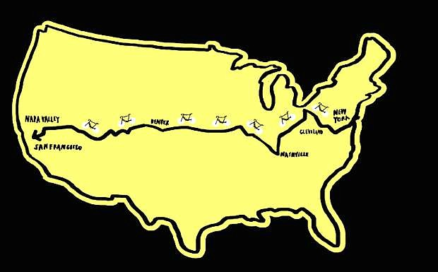 The ride takes participants across the country over 4,200 miles and is expected to take 10 weeks.