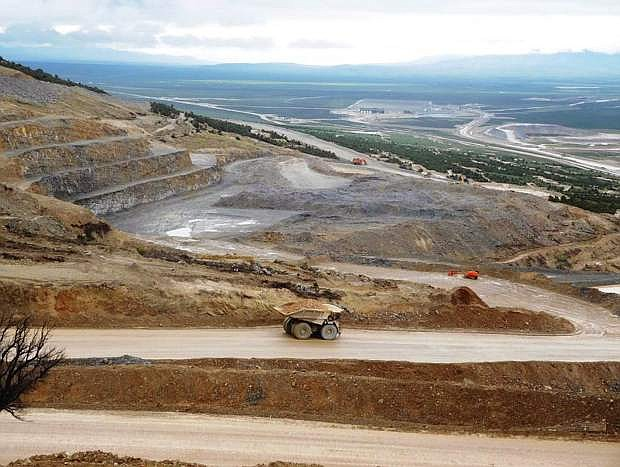 A wide shot of Newmont's Long Canyon mine is seen in this file photo.