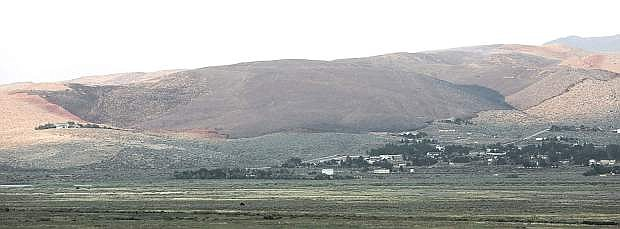 The burn scar from the Brenda Fire seen Friday afternoon.