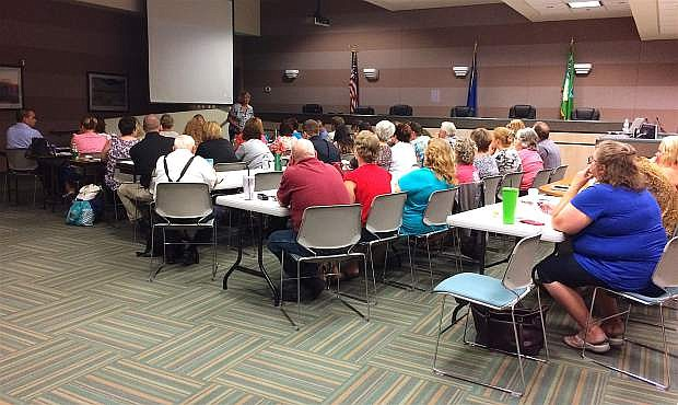 "Over 50 people attended the workshop ""Sex Offenders: Keeping Children, Churches, Schools and Youth Service Organiations Safe"" that toook place in the Churchill County Commission Chambers."
