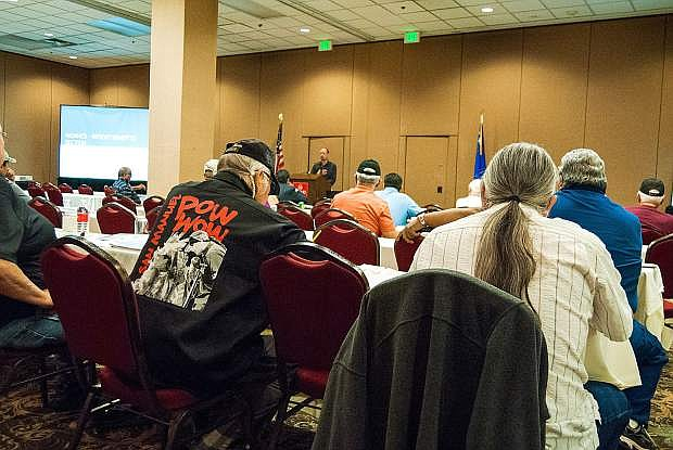 Native American veterans gathered at Grand Sierra Resort in Reno on June 23 to learn about services available once they return home from war.
