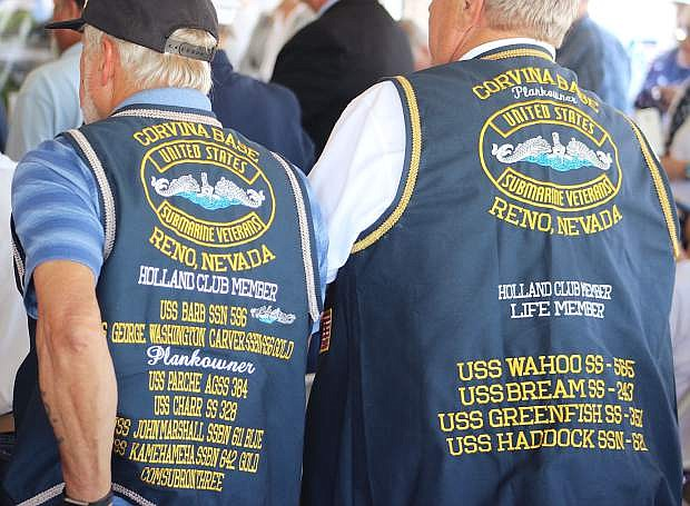 Many veteran groups attended the ceremony.