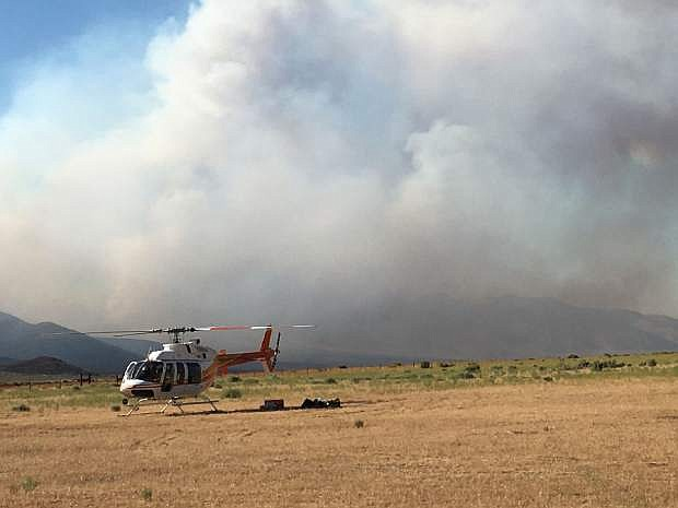 Firefighters are making progress on the Draw Fire near Cold Springs.