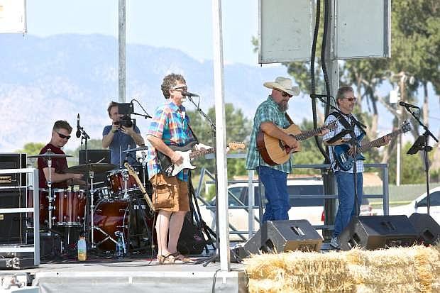 The John Dawson Band entertains the crowd Saturday at Corley Ranch.