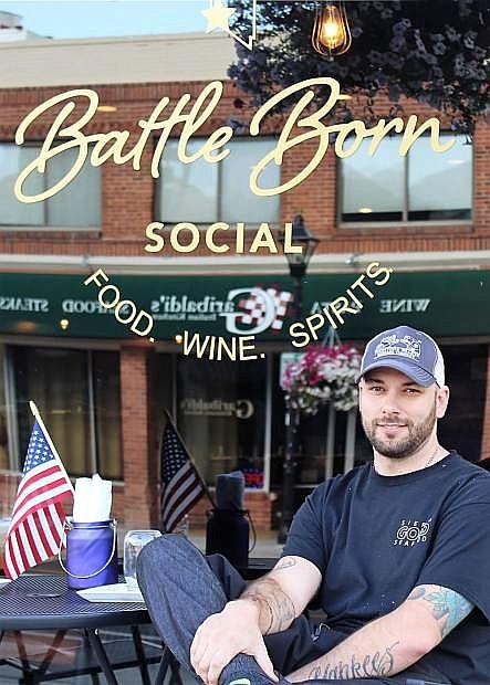Battle Born Social owner/chef David Stern takes a break outside his establishment on 318 N. Carson Street.
