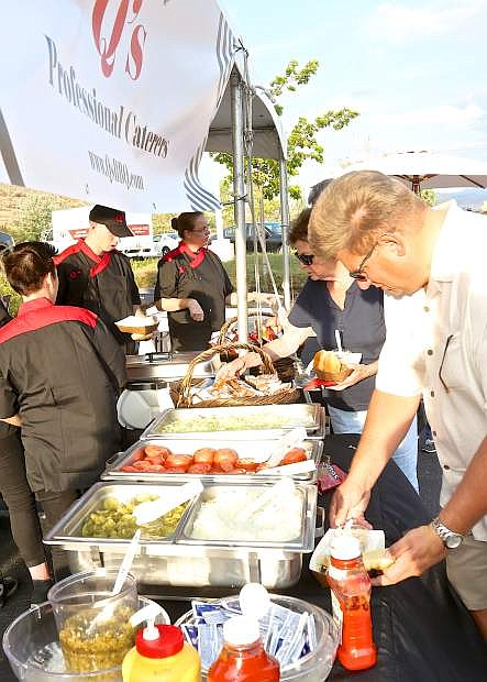 Q's Professional Caterers provided the food for this year's Hopefest at Carson-Tahoe Hospital.